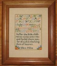 Ellen Milne 1804 Antique Sampler Reproduction pattern Samplers Revisited - $9.00