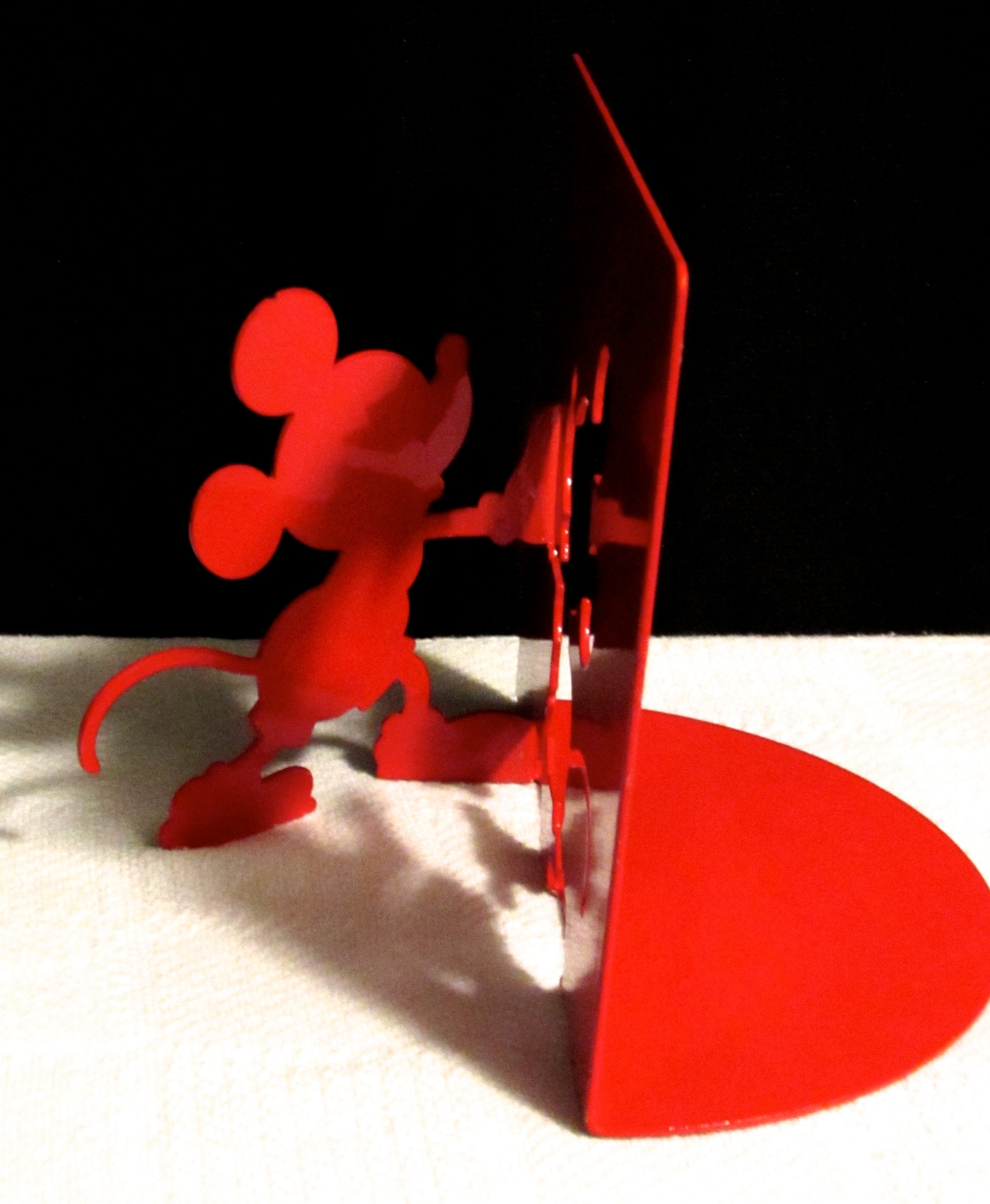 Michael Graves Disney Red Silhouette Bookend