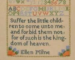 Ellen Milne 1804 Antique Sampler Reproduction pattern Samplers Revisited