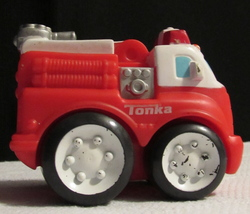 "Tonka Chucks & Friends Wheel Pals Hasbro soft car LARGE 4"" Fire Truck Engine"