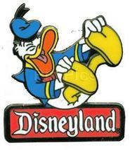 Disney Donald Duck 2000 Disneyland Sign Logo pin/pins - $18.37