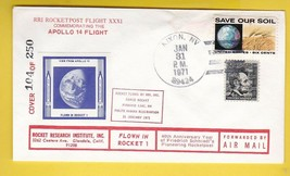 ROCKET RESEARCH INSTITUTE ROCKET FLOWN COVER APOLLO 14 LAUNCH 1/31/1971 ... - $6.96