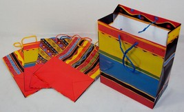 Festive Party Gift Bag Set, 5 Re-usable Bags For Birthdays & Other Occasions - $7.79
