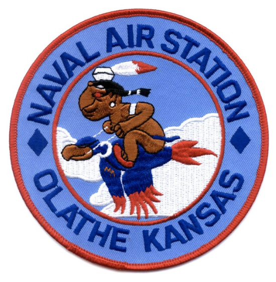 "Primary image for 4.5"" NAVY NAVAL AIR STATION OLATHE KANSAS EMBROIDERED PATCH"