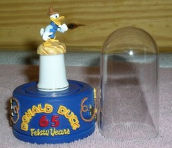 Disney Donald Duck western Thimble Feisty 65 Years stand & dome - $41.59