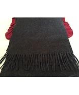 "Women's~ CASHLUXE~ Charcoal Gray Scarf w/Fringe Lg. Size 14.5""X74"" EUC/A... - $17.80"