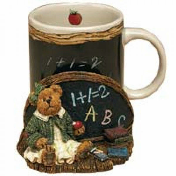 "Primary image for Boyds Bears Accessory- MUG- ""Miss Wise. Teachers Count"" Style #390523 -NIB"