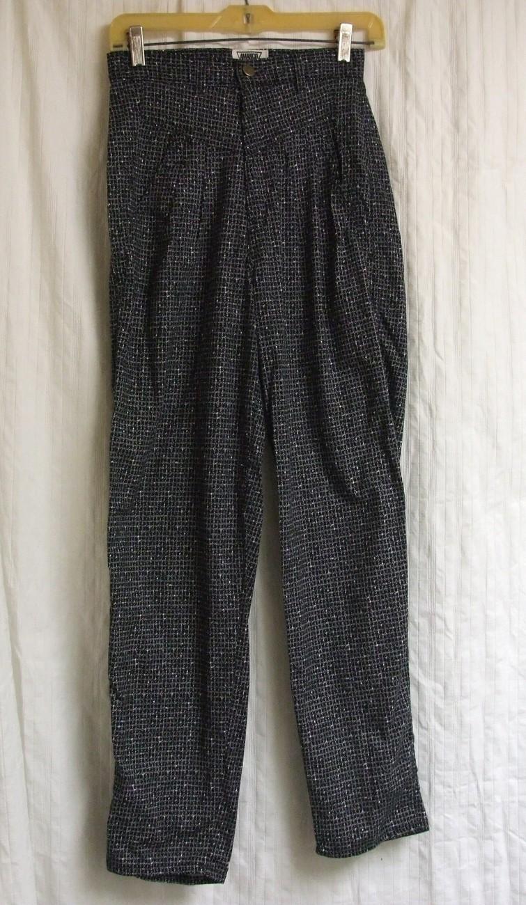 Black Tweed Highwaist Vintage Pants 9 - $10.00