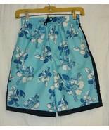 Ocean Pacific Boys Blue Floral Swim Trunks Sz. 10-12 - $5.00