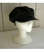 Black Cotton Newsboy Hat-Med. - $10.00