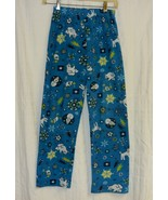 Blue Flannel Pajama Bottoms Snowmen-Lg. 10-12 - $5.00