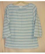 Charter Club Blue Cotton VINTAGE Top / Jersey / Shirt -M - $5.00