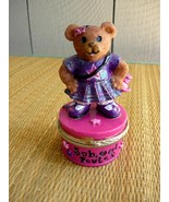 SCHOOL RULES Little Teddy Bear on Trinket Box - $5.00