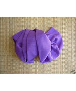 Purple taffeta Bow French Clasp Barrette - $5.00