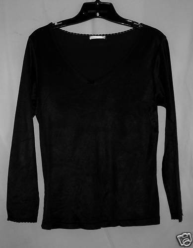 Primary image for Black Soft Jersey Top S/M