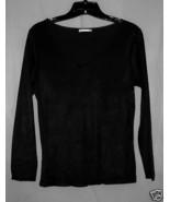 Black Soft Jersey Top S/M - $5.00