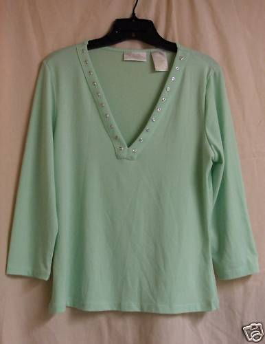 Primary image for Celery green spandex Top Med.-Lg.