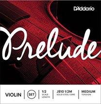 D'Addario Prelude Violin String Set, 1/2 Scale, Medium Tension - $12.77