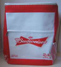 Budweiser Insulated Zippered Cooler Backpack Bag Holds 24 Beer Cans Bud - $19.21