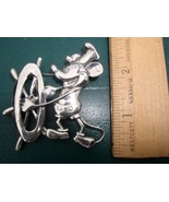 Disney Mickey Steamboat Willie Sterling Sliver Brooch Pin/Pins - $199.99