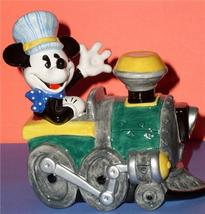 Disney Mickey Train Engineer Porcelain Bank - $96.74