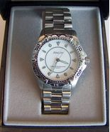 Avalon Quartz Sport Wristwatch in Steel with White Dial - $35.00