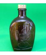 Log Cabin Syrup Bicentennial Brown Bottle, 1776 And Eagle Design - $2.95