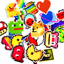 An item in the Toys & Hobbies category:  25Pcs animals lover Stickers Mixed Funny Cartoon  Mosaic Pixels Decals Luggage