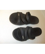 CROCS Croc Sandles 7W black Summer Spring Weather Fashions - $15.00