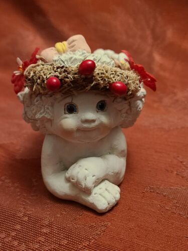 "Dreamsicles 1994 Cherub Candle Holder Figurine Collectable  3"" x 4 1/2"" x 2 1/2"""