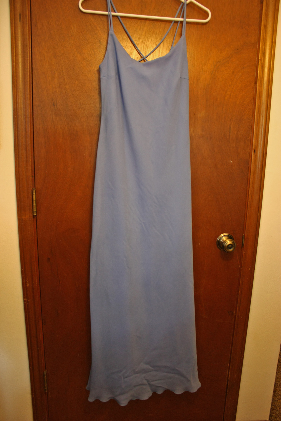 Primary image for NWT Be Smart Periwinkle Blue Floor Length Dress - Size 9/10