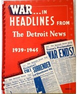 War in Headlines from The Detroit News 1939-1945 - FULL BOOK (SPIRAL-BOUND) - $19.79