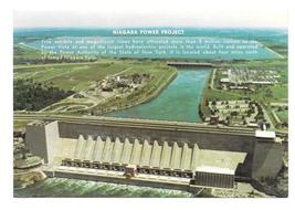 NY Niagara Power Project Hydroelectric Dam Vtg New York Postcard 4X6 - $5.69