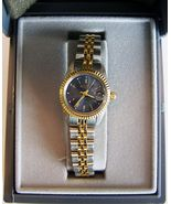 Medana Ladies Sport Style Quartz Wristwatch With Two-Tone Metal Bracelet  - $37.00