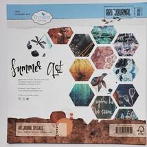 Summer Art Design Card Stock. 12X12 Double Sided.  Elizabeth Craft Designs.