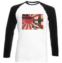 A6 M Reisen Japanese Wwii P   Cotton Black Sleeved Baseball T Shirt  S M L Xl Xxl - $27.61