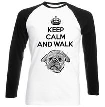 Shih Tzu Keep Calm   Cotton Black Sleeved Baseball T Shirt  S M L Xl Xxl - $37.94