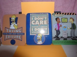 Simpsons set of 3 tin signs - $34.82