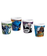 Doctor Who Comic Art Images Set of 4 Ceramic 2 oz Shot Mini Glasses, NEW... - $17.66
