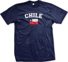 Chile Chiliean Flag National Ethnic Pride Soccer World Cup-Mens T-shirt - $12.50