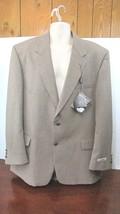 RBM Collection Tan Two Button Men's Woo/Polyester Blazer Jacket - 46L - $98.99