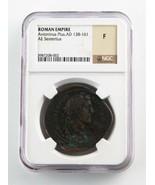 138-161 ad Romanzo Impero Sesterzo Antoninus Pius Selezionato da NGC com... - $1,485.05