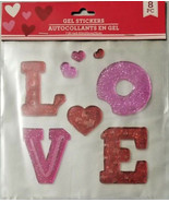 Window Gel Stickers LOVE & Hearts 8 count - $5.99