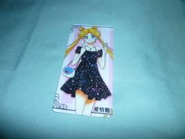Sailor moon bookmark card sailormoon anime Usagi black dress - $6.00