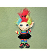 FLIP ZEE TROLLS RAINBOW GALORE PLUSH STUFFED DOLL 2 In 1 JAY AT PLAY BLA... - $14.85