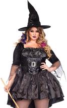 Leg Avenue Women's Plus-Size 2 Piece Black Magic Mistress Witch Costume - $88.72