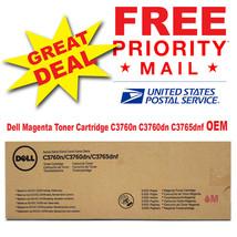 Dell Genuine Magenta Toner Cartridge C3760n C3760dn C3765dnf OEM 5,000 Pages - $84.11