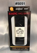 "QFITT MAKE YOUR OWN WIG DIY ELASTIC WIG BAND 1-1/8"" X 1YD #5051 BLACK"
