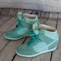 Nike | Size 7.5 Women's Green Dunk Sky High Sneakers Retro Lace Tie  - $69.29