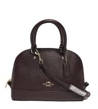 NWT Coach 11927 mini Sierra Satchel Glitter Crossgrain Leather handbag O... - $138.60